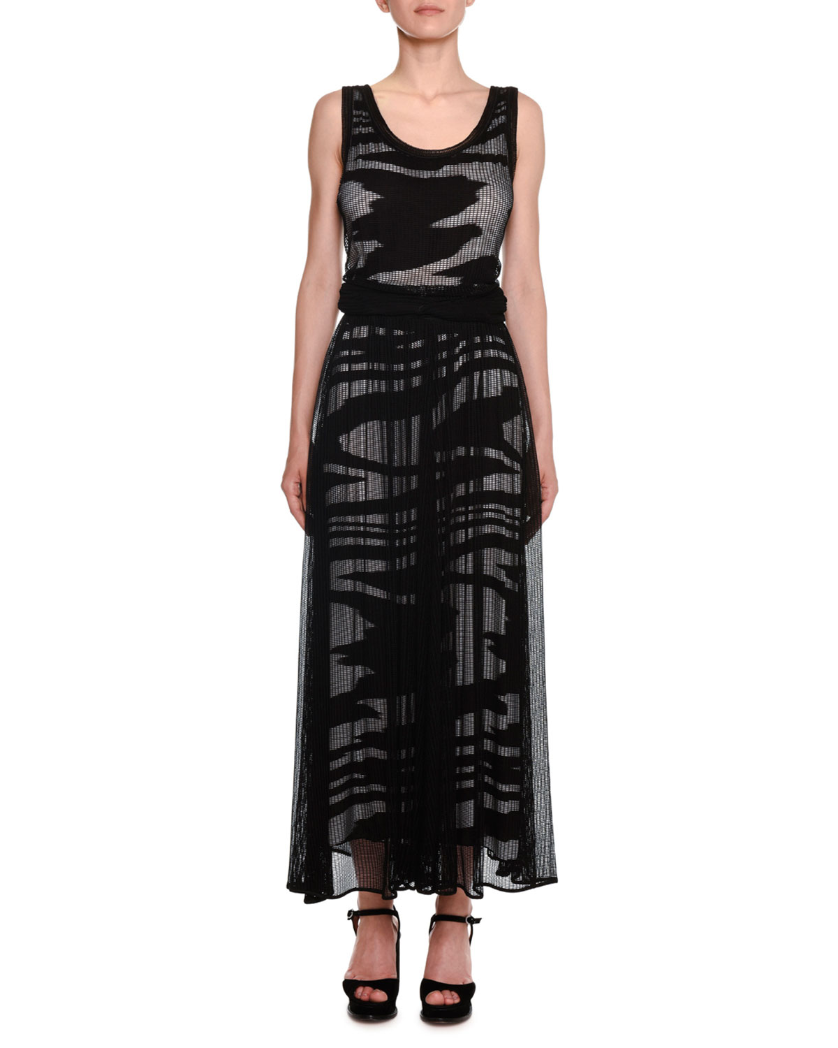 Missoni Dresses SCOOP-NECK SLEEVELESS SPACE-DYE MESH LONG DRESS