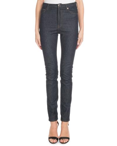 High-Waist Slim-Leg Jeans