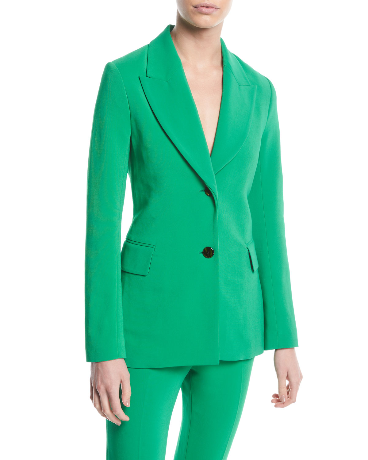 Rosetta Getty Jackets PEAK-LAPEL TWO-BUTTON STRETCH-CADY JACKET