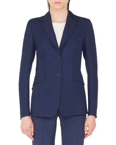 Punto Stretch Blazer Jacket with Soft Back