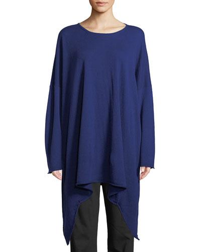 Cashmere Cascading Bateau-Neck Sweater