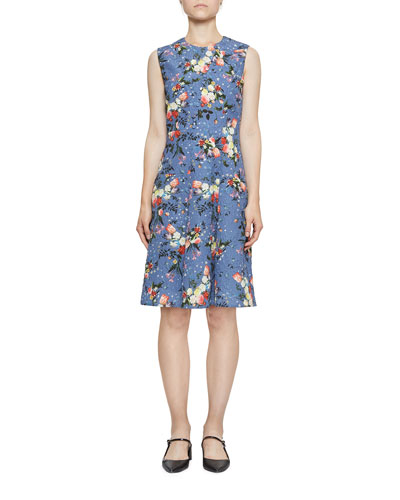 Yesim Sleeveless Floral Drop-Waist Dress