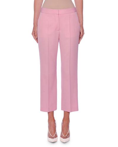68f8437a9801 Flat-Front Straight-Leg Crop Classic Wool Pants Quick Look. Stella McCartney
