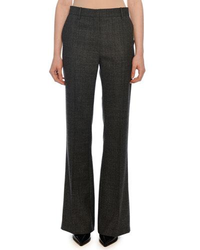 Wool Zip-Front Pants