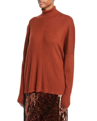 Lightweight Cashmere-Silk Turtleneck Sweater