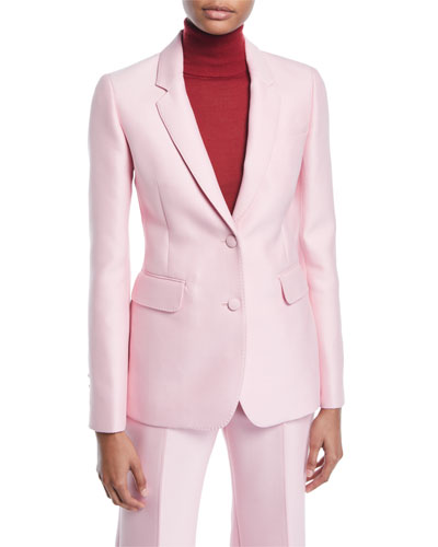 Sophie Single-Breasted Two-Button Double-Face Wool Blazer