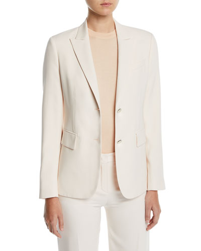 Silk-Wool Single-Breasted Blazer