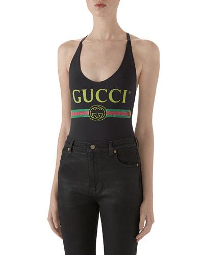 Gucci-Print Sparkling Lycra® Bodysuit