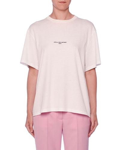 Crewneck Short-Sleeve Cotton Logo Tee