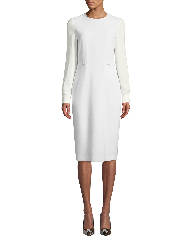 Max Mara Dresses OTTELIA GEORGETTE-SLEEVE SHEATH DRESS