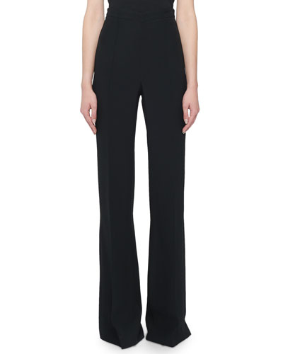 High-RIse Classic Boot-Cut Pants