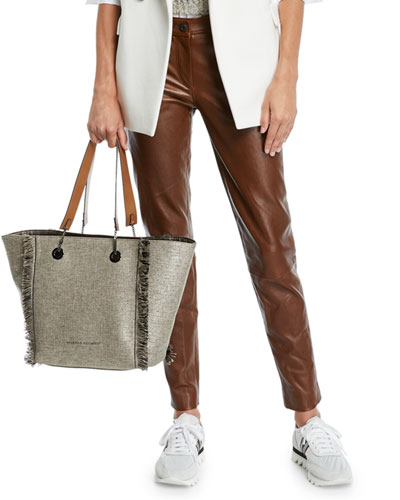 Leather Skinny-Leg Pants