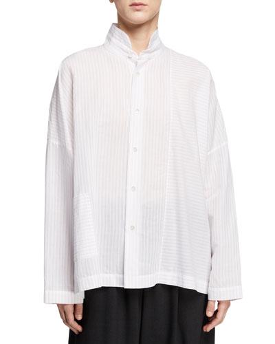 Paneled Button-Front Shirt