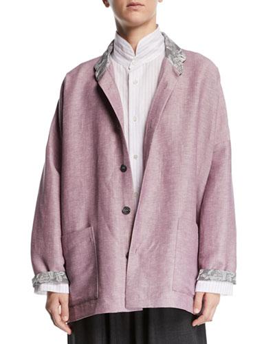 Lightweight Linen-Wool Jacket