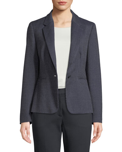 Mosella Single-Breasted Wool-Silk Blazer