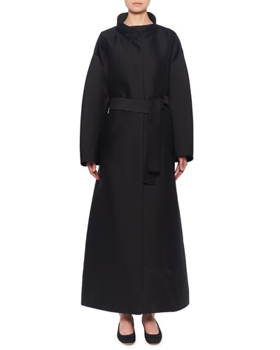 Sarlie Belted Silk Trench Coat