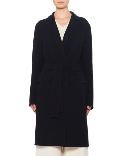 Tumo Wool-Blend Wrapped Pea Coat