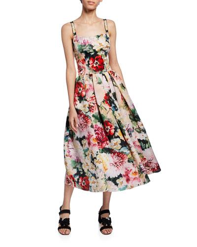 c6a0251e Sleeveless Floral Midi Dress Quick Look. Dolce & Gabbana