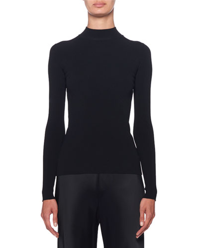 Middi Mock-Neck Long-Sleeve Top