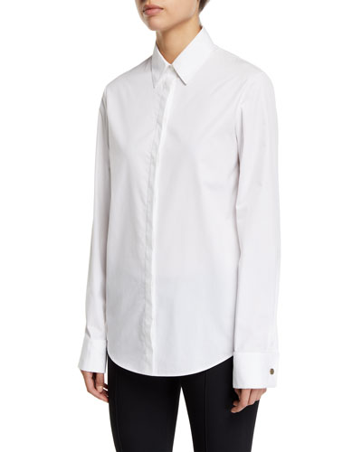 Pete Button-Front Cotton Shirt