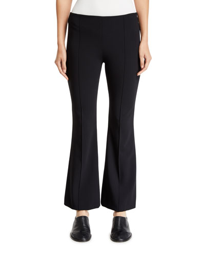 Beca Cropped Wool-Blend Boot-Cut Pants