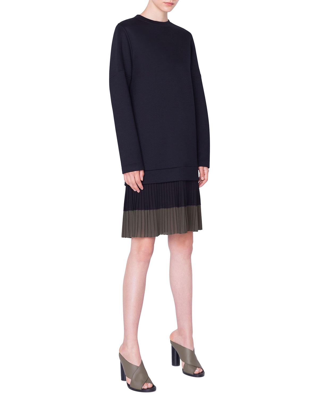Akris Punto Dresses PLEATED-HEM SWEATSHIRT DRESS