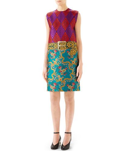 82d34c5b2f7 Sleeveless Graphic Garden Flower Dress Quick Look. Gucci