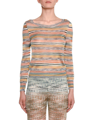 2ecc8a5940 Long-Sleeve Striped Top Quick Look. Missoni