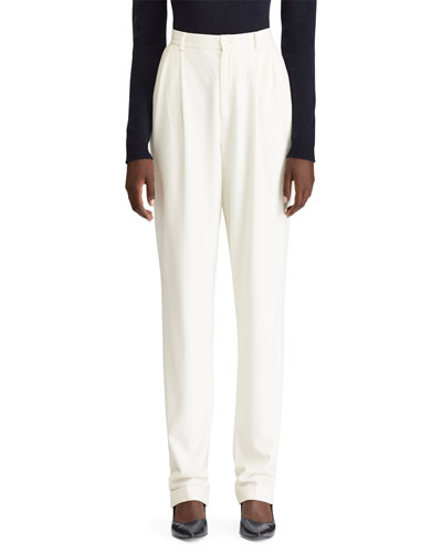 Andela Pleated Straight-Leg Pants