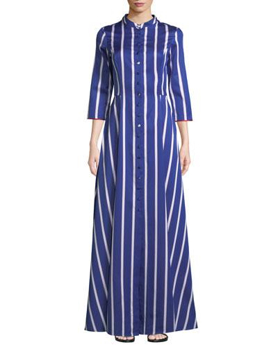 Carine Long Striped Shirtdress