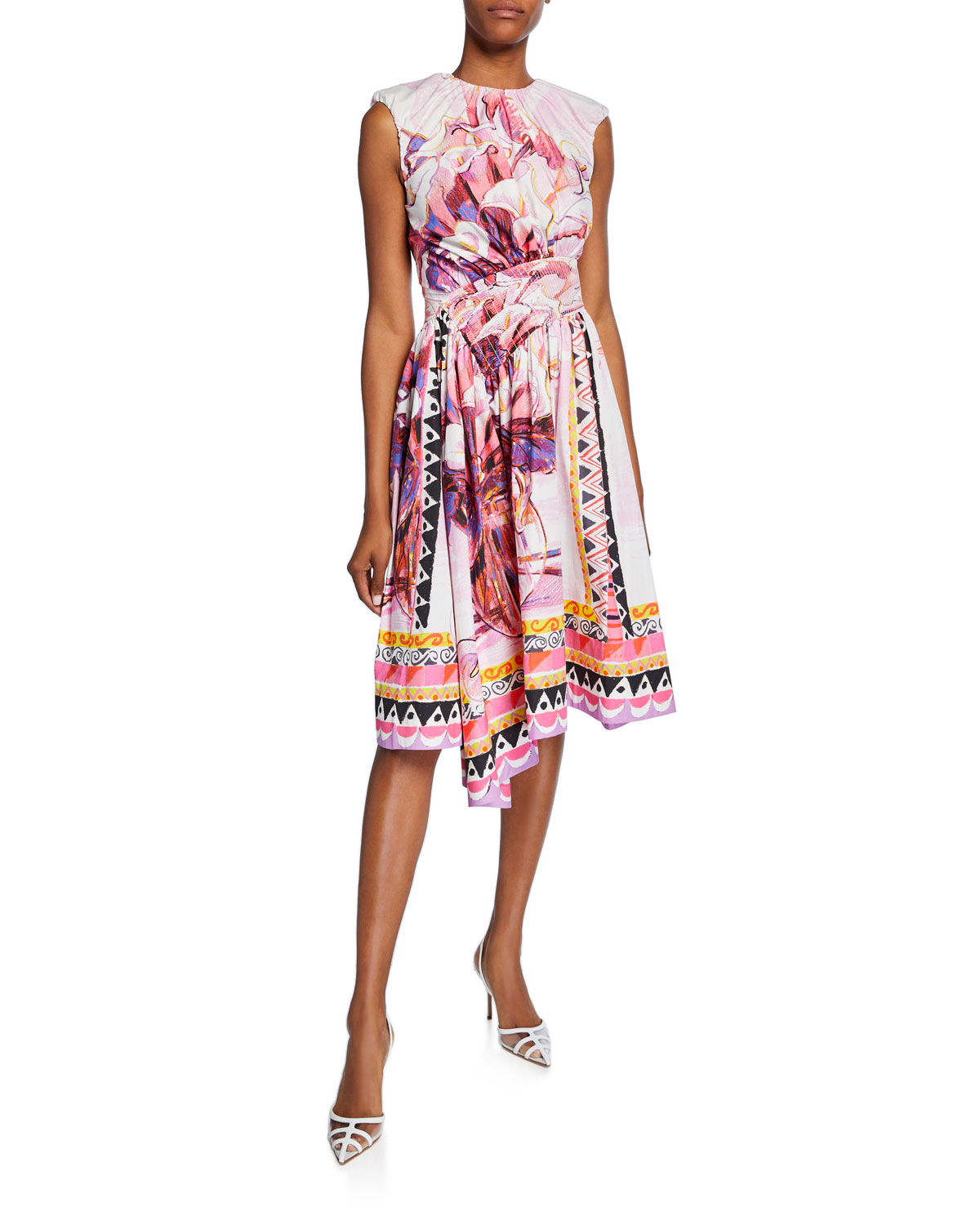 Prada Dresses SLEEVELESS FLOWERPOT DRESS
