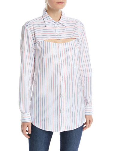Overlay Button-Down Top