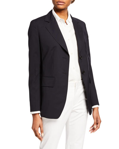 Lightweight Wool Blazer Jacket
