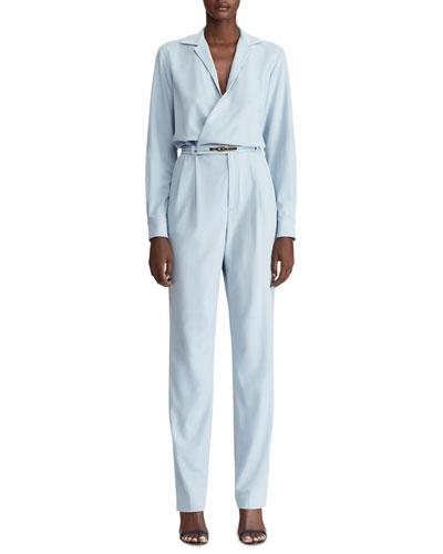 Judson Belted Luxury Wool Jumpsuit