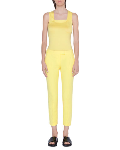 Frankie Cropped Mid-Rise Pants