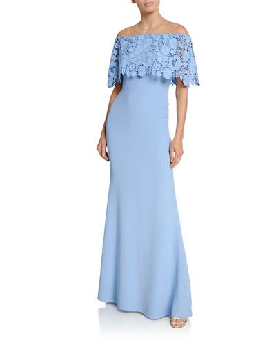 Lace Capelet Gown