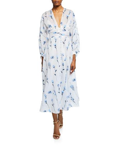 533f67a5535 Full-Sleeve V-Neck Dress Quick Look. Lela Rose