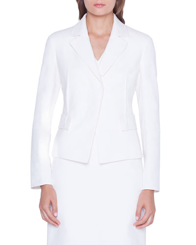 Alessia Cotton-Silk Blazer Jacket