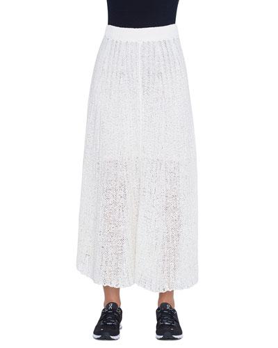 Crocheted Cotton Maxi Skirt