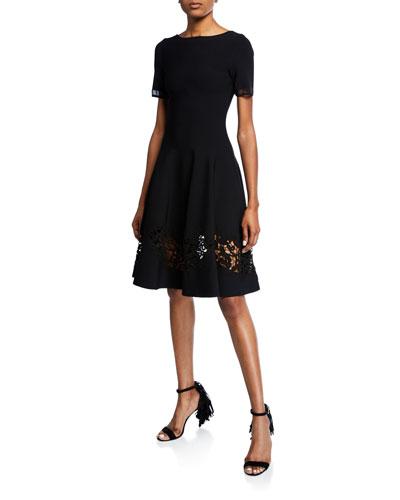 Short-Sleeve Detailed Bottom Day Dress
