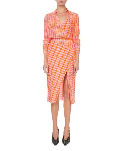 c6f834ff260c Long Sleeve Silk Shirt Dress | bergdorfgoodman.com