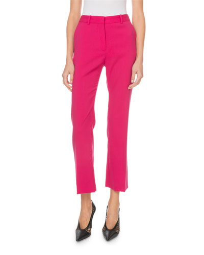 Adler Mid-Rise Stretch-Wool Cropped Pants
