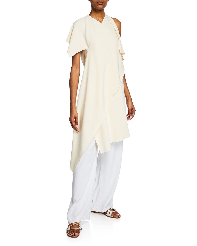 Rosetta Getty Dresses ONE-SHOULDER ASYMMETRIC DRESS