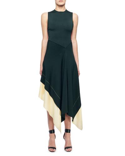 Sleeveless Round-Neck Crisscross-Back Dress