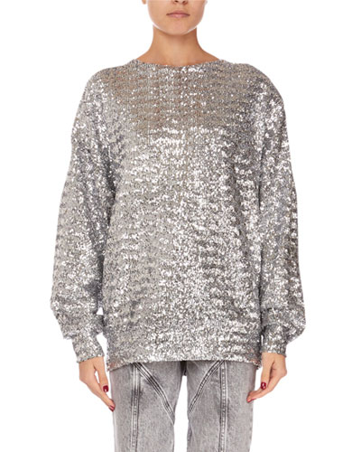 Olivia Sequined Crewneck Sweater