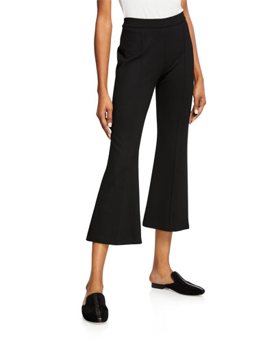 Pull-On Cropped Flared Pants