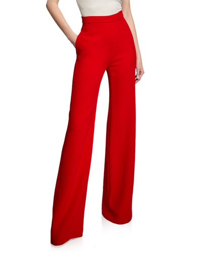 Wide-Leg Pants with Side Pockets