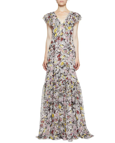Franceline Floral Sleeveless Gown