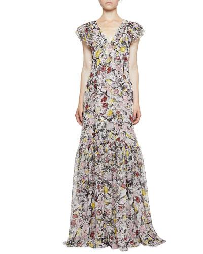 Franceline Floral Sleeveless Gown