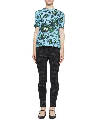 Floral Hettie Short-Sleeve Tee, Blue